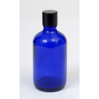 100ml Blue Lake Glass Bottle