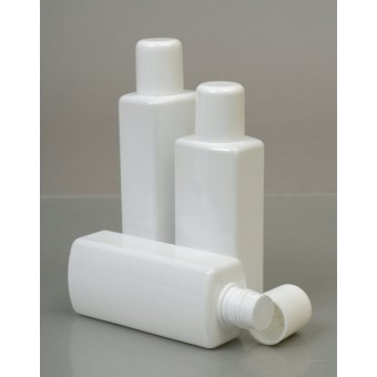 200ml Ovale White Plastic Bottle