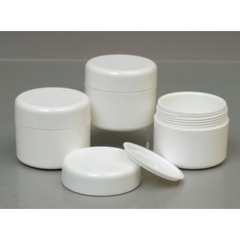 50ml White Plastic Jar