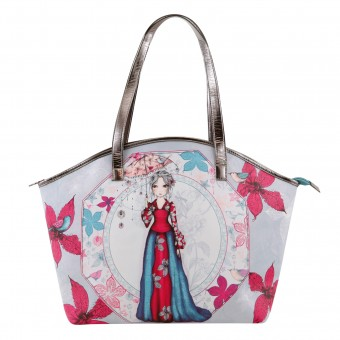 Mirabelle Parasol Curved Shopper Bag
