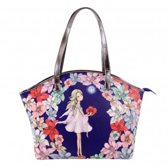 Mirabelle Midnight Garden Curved Shopper Bag