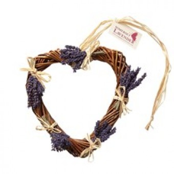 Lavender Wicker Heart